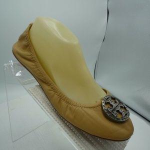 Tory Burch Size 9 M Tan Slip On Flats C2C A21